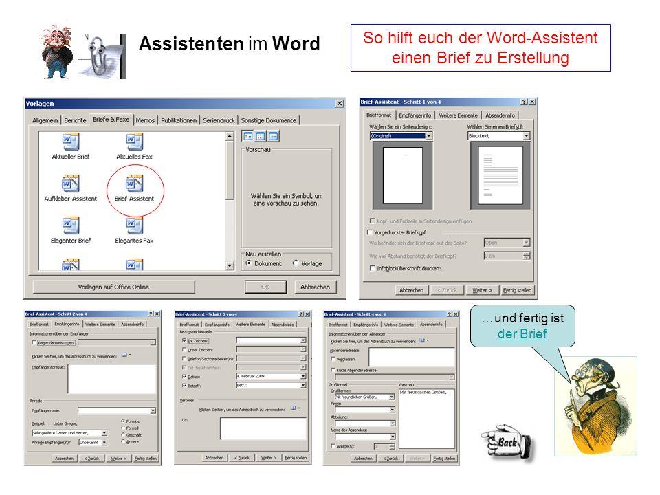 So hilft euch der Word-Assistent einen Brief zu Erstellung