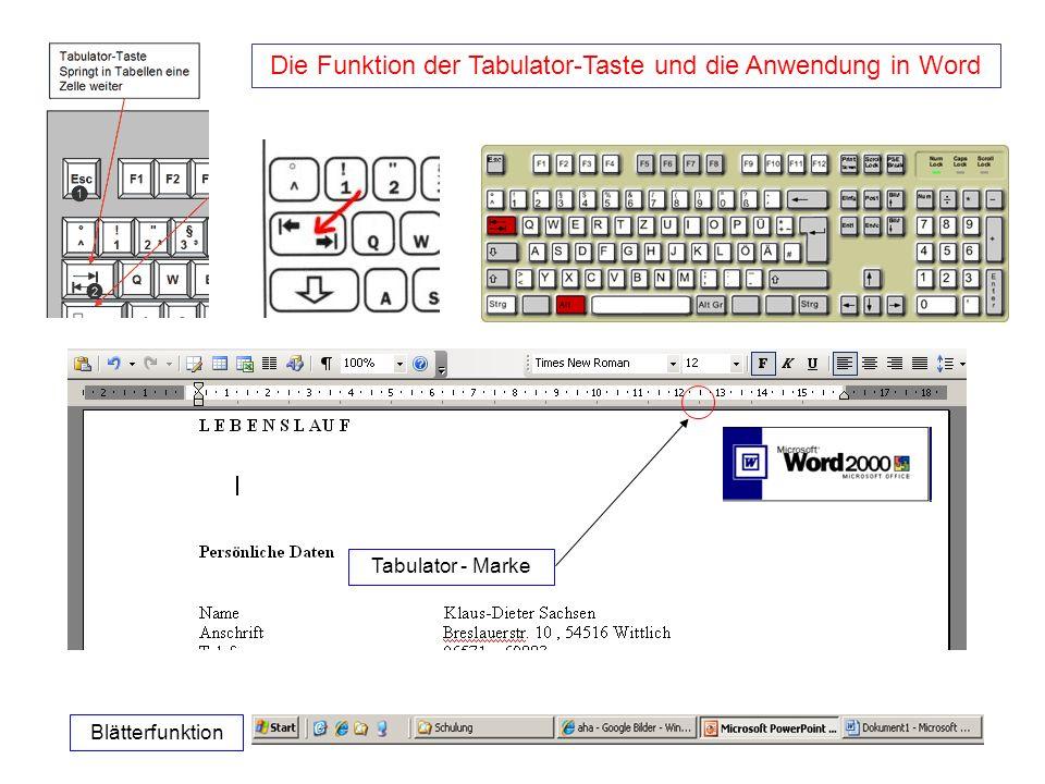 Die Funktion der Tabulator-Taste und die Anwendung in Word