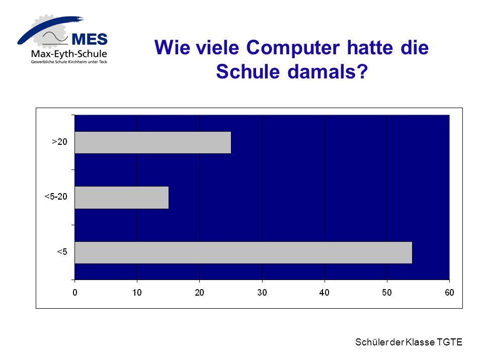 Wie viele Computer hatte die Schule damals
