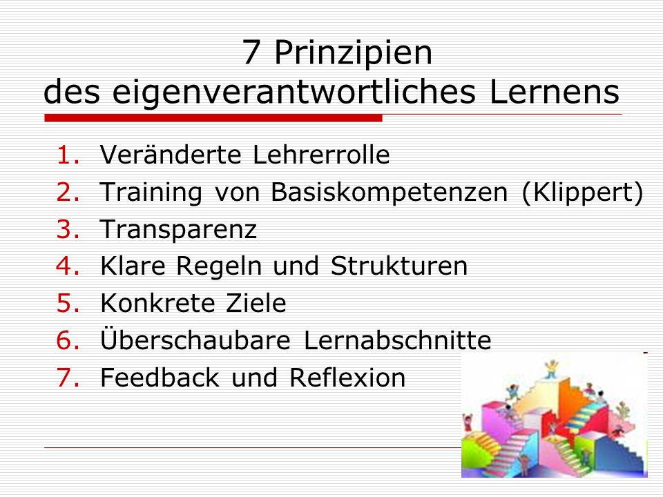 7 Prinzipien des eigenverantwortliches Lernens