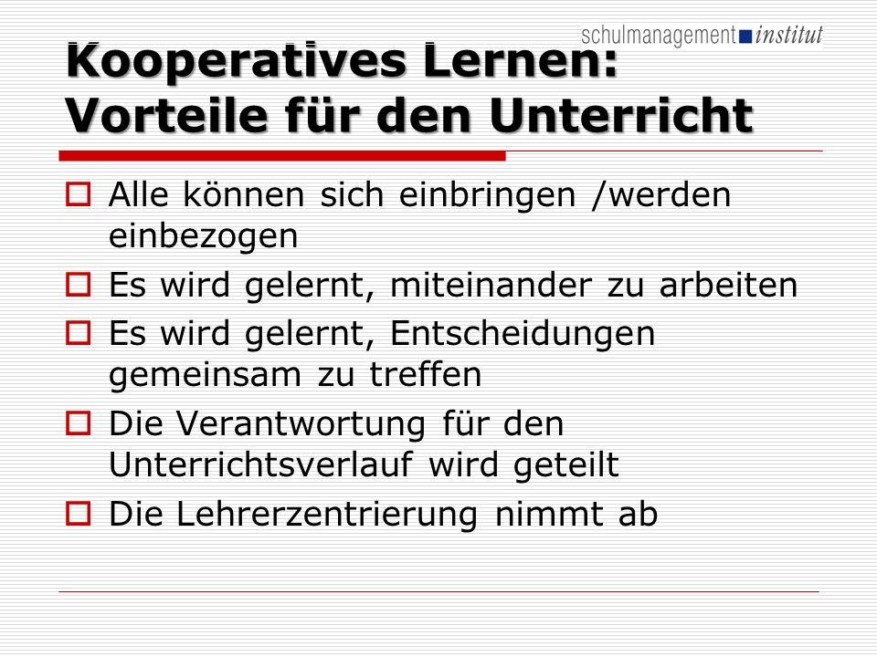 Kooperatives Lernen: Vorteile für den Unterricht