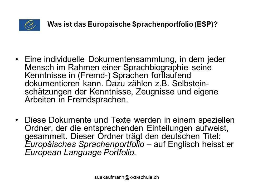 Was ist das Europäische Sprachenportfolio (ESP)