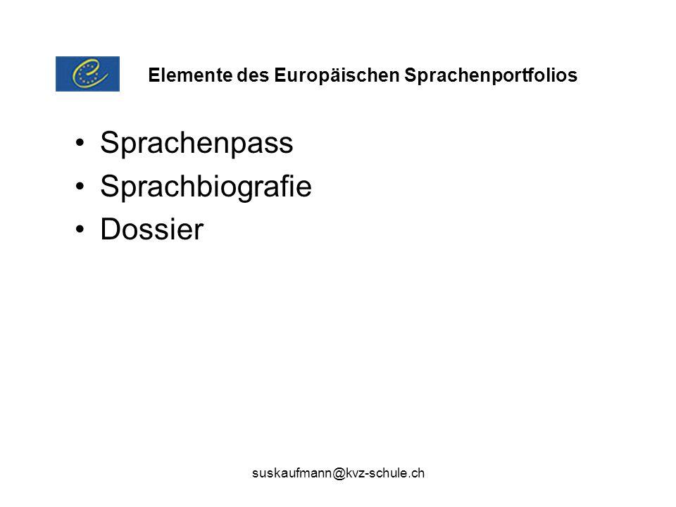 Sprachenpass Sprachbiografie Dossier