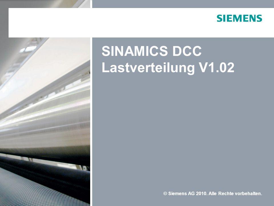 SINAMICS DCC Lastverteilung V1.02