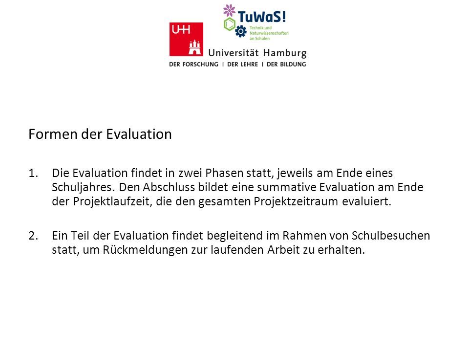 Formen der Evaluation