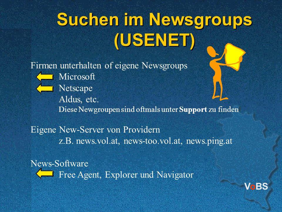 Suchen im Newsgroups (USENET)