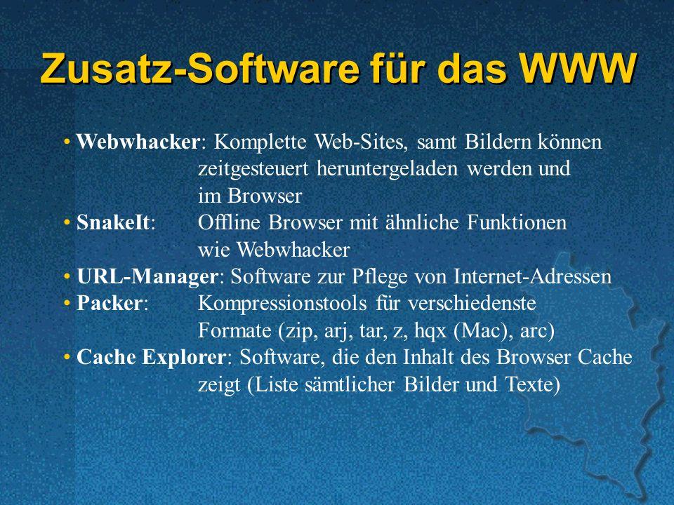 Zusatz-Software für das WWW
