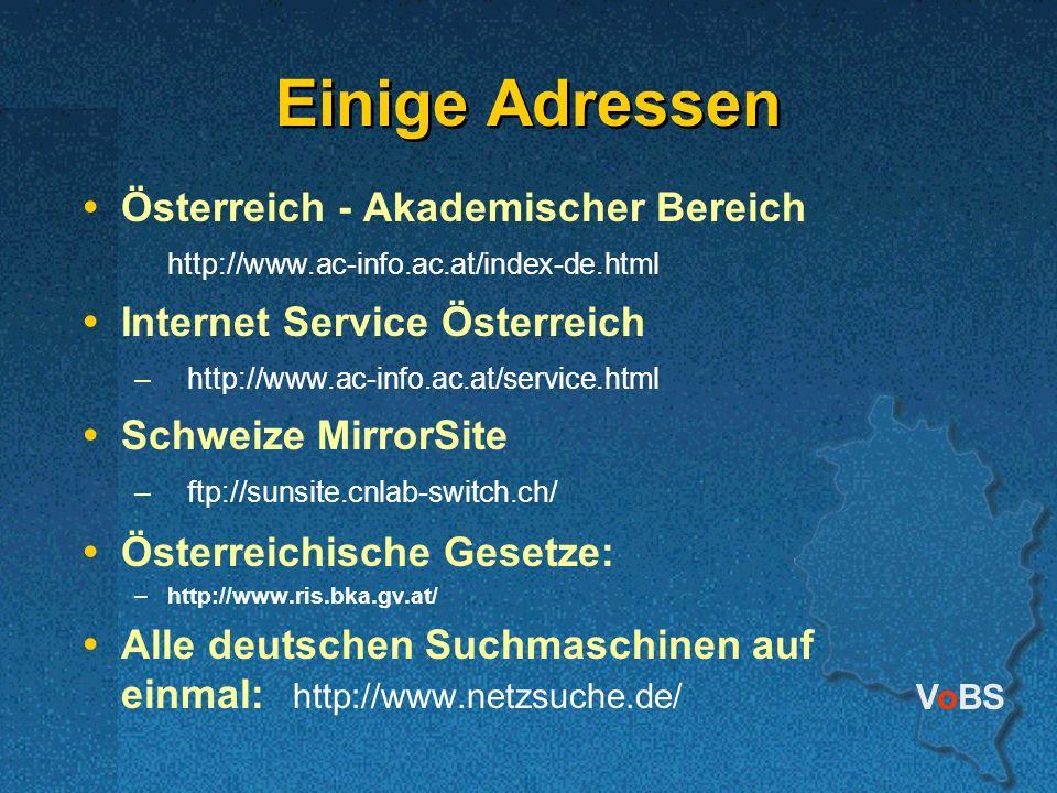 Einige Adressen Österreich - Akademischer Bereich