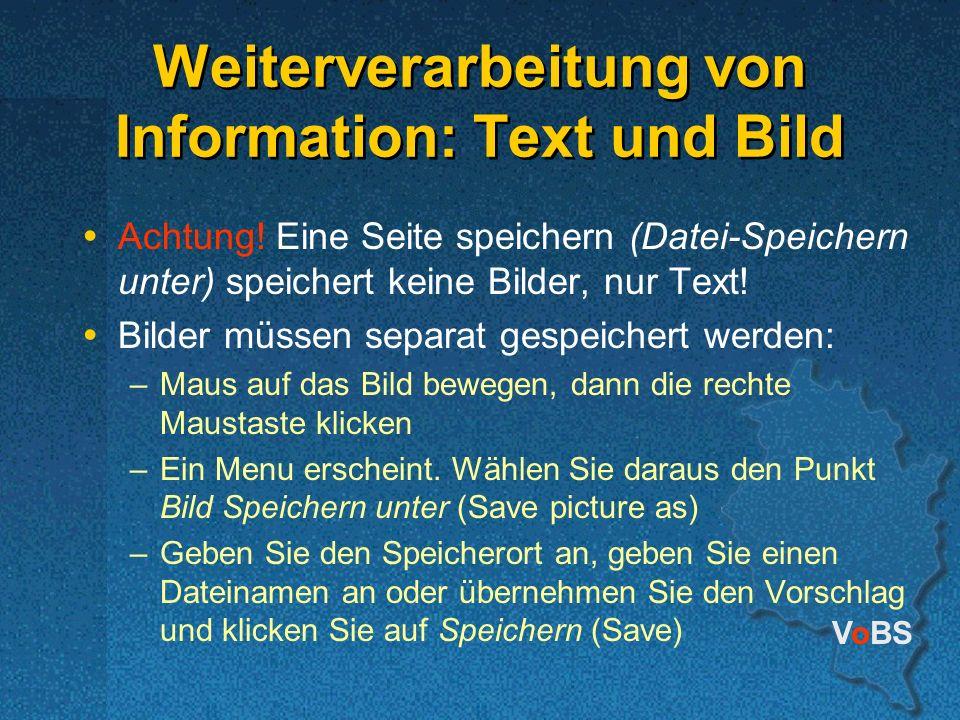 Weiterverarbeitung von Information: Text und Bild