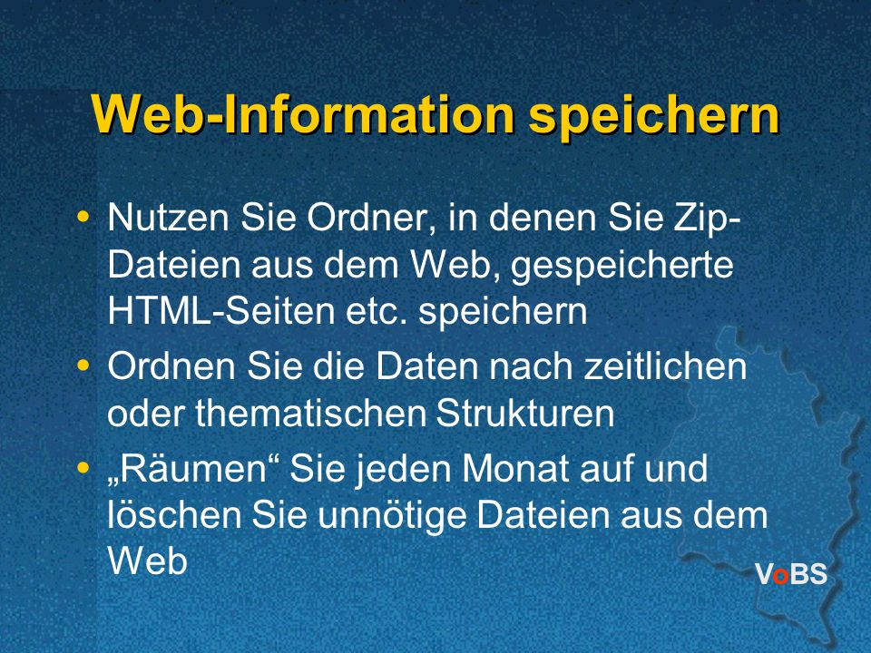 Web-Information speichern