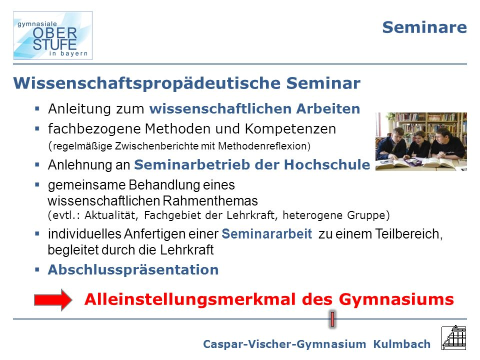 Wissenschaftspropädeutische Seminar