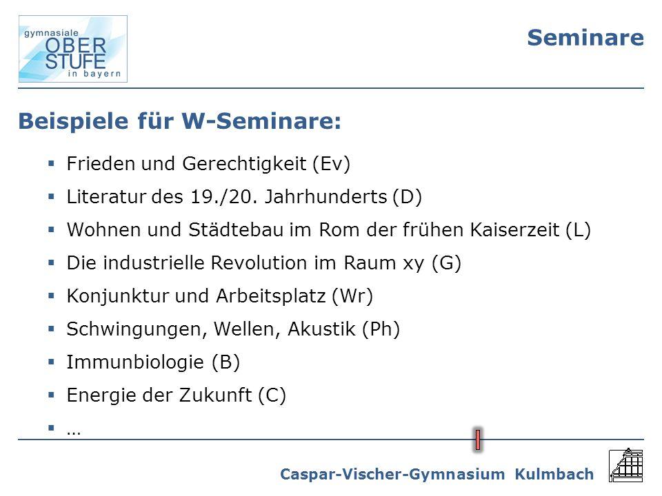 Beispiele für W-Seminare: