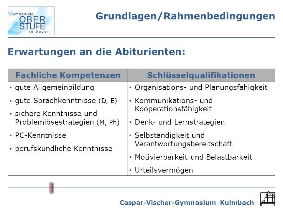 Fachliche Kompetenzen Schlüsselqualifikationen