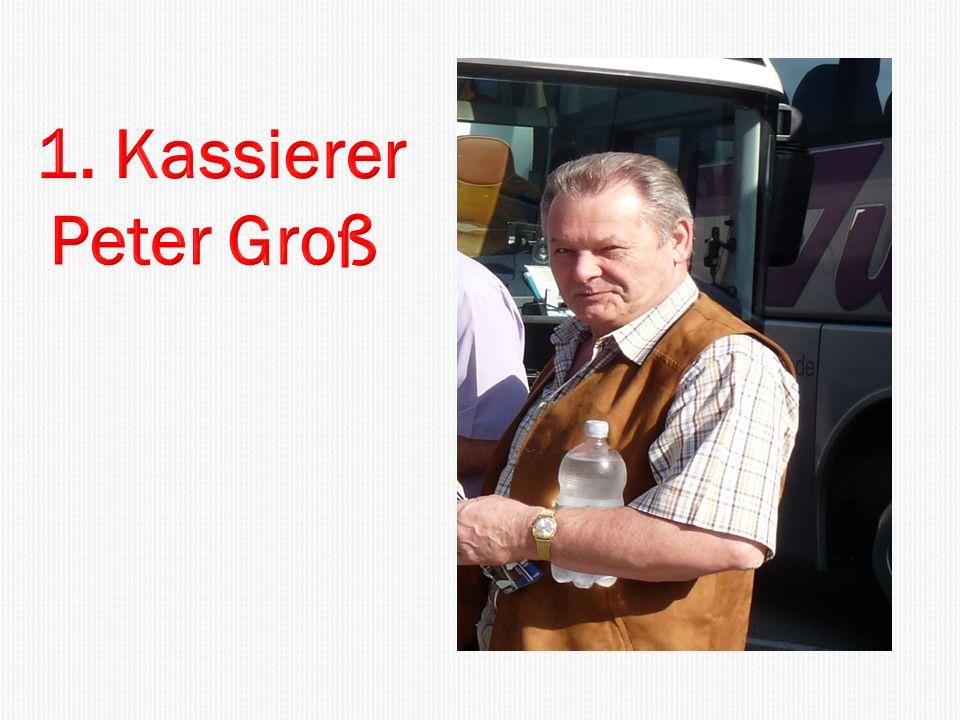 1. Kassierer Peter Groß