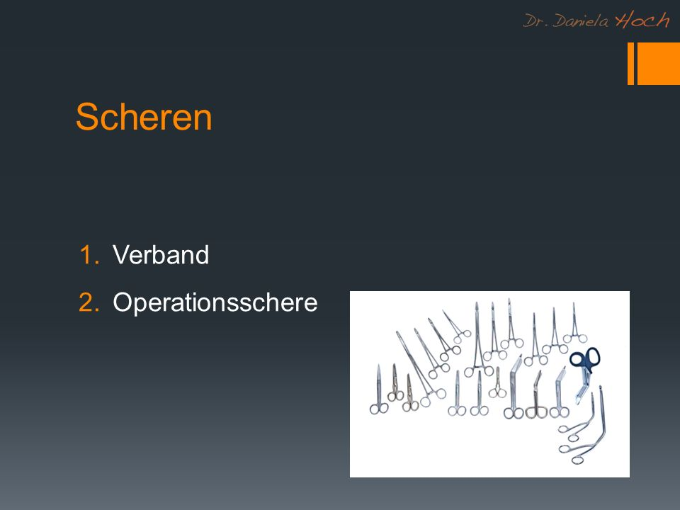 Scheren Verband Operationsschere