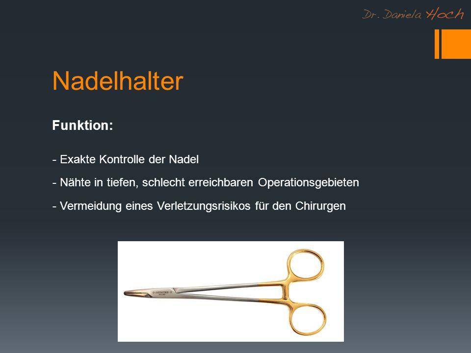 Nadelhalter Funktion: - Exakte Kontrolle der Nadel