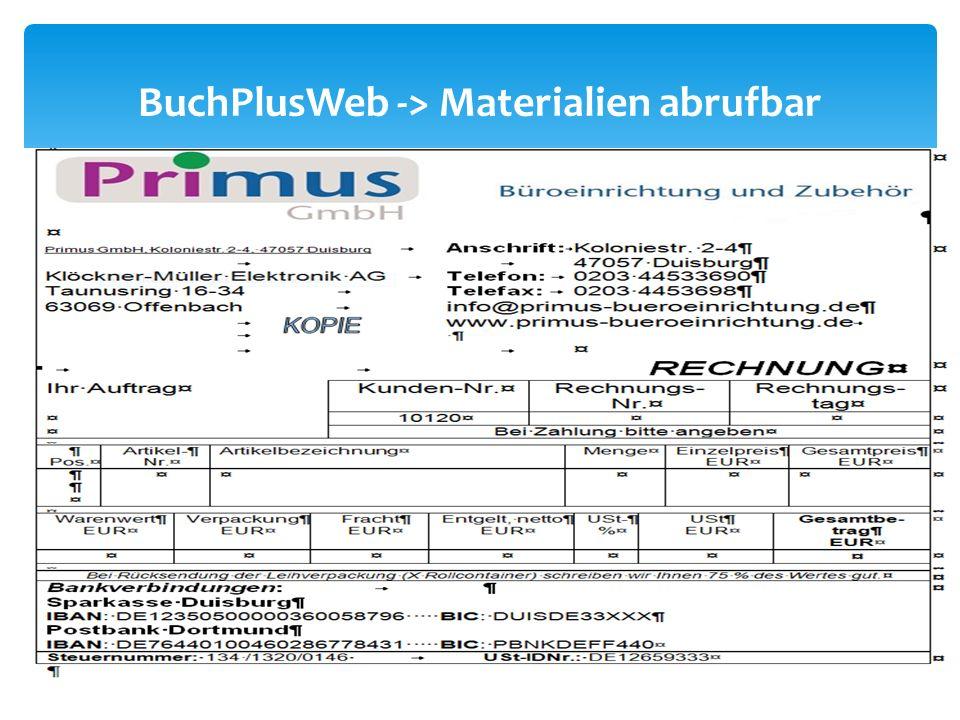 BuchPlusWeb -> Materialien abrufbar