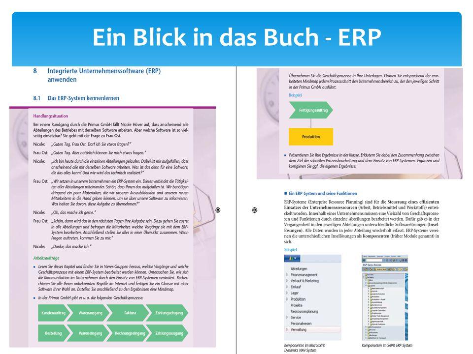 Ein Blick in das Buch - ERP