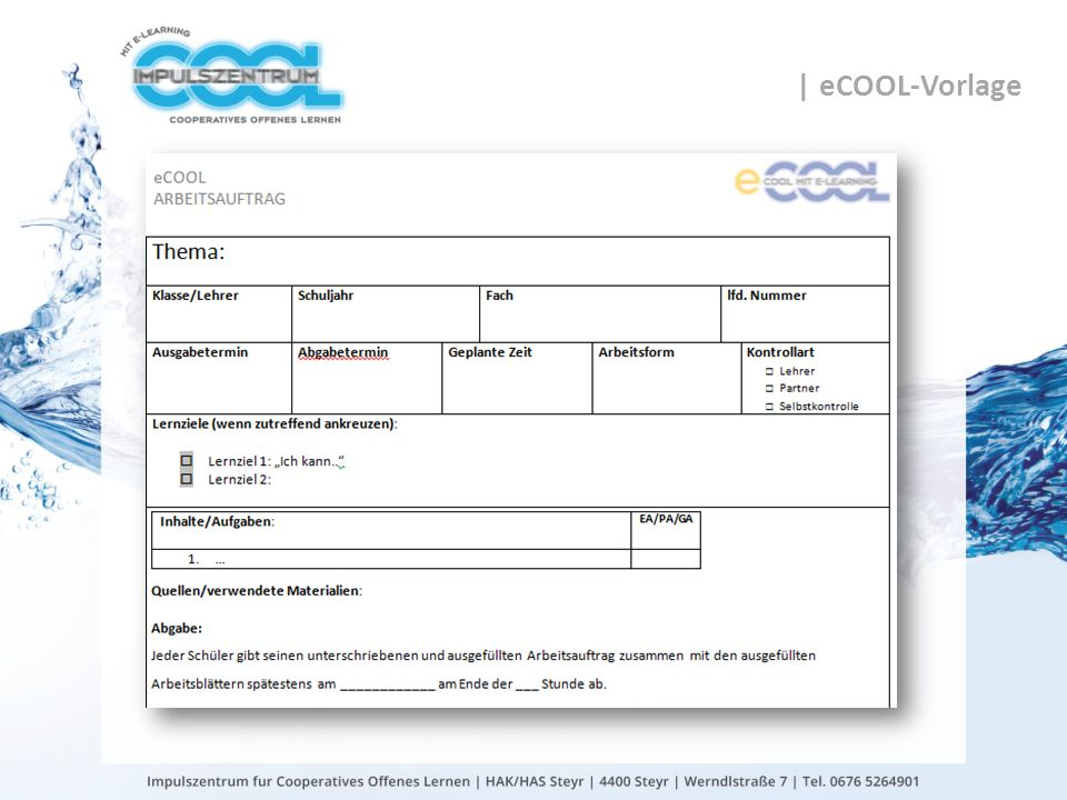 | eCOOL-Vorlage