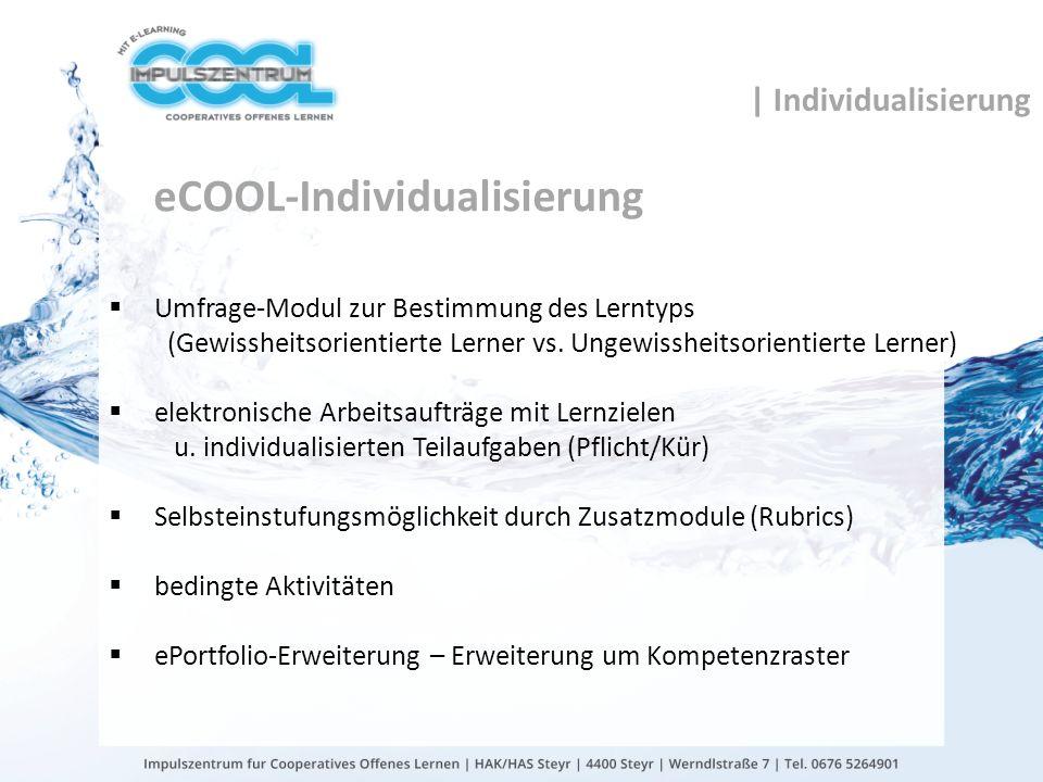 eCOOL-Individualisierung
