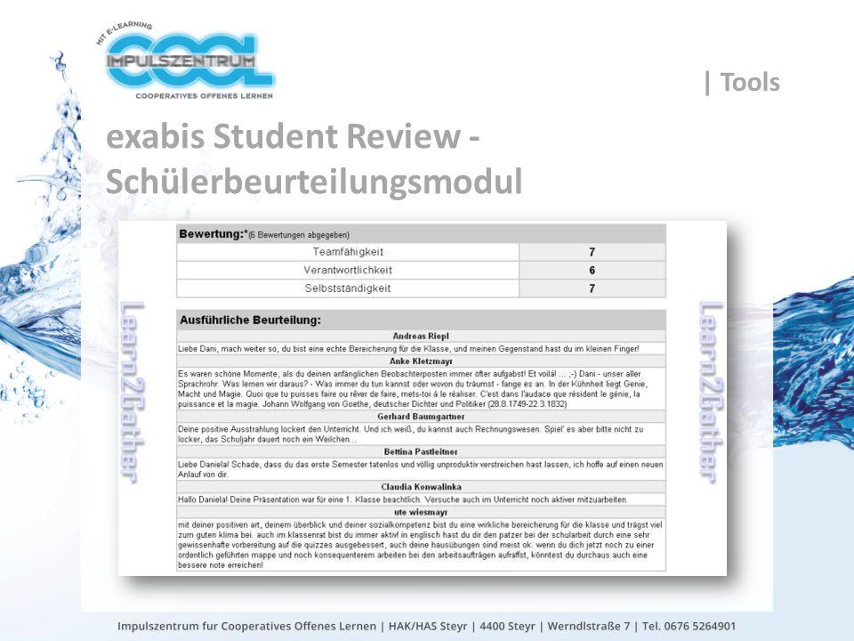 exabis Student Review - Schülerbeurteilungsmodul