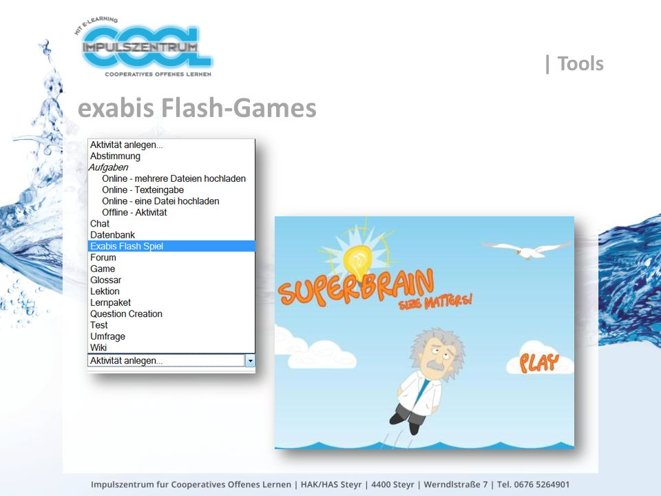 | Tools exabis Flash-Games