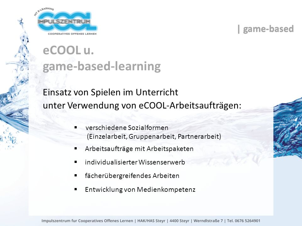 eCOOL u. game-based-learning