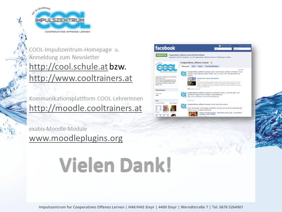 COOL-Impulszentrum-Homepage u. Anmeldung zum Newsletter http://cool