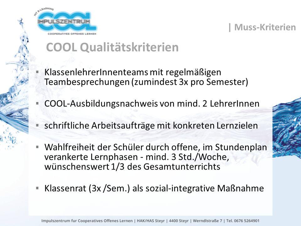COOL Qualitätskriterien