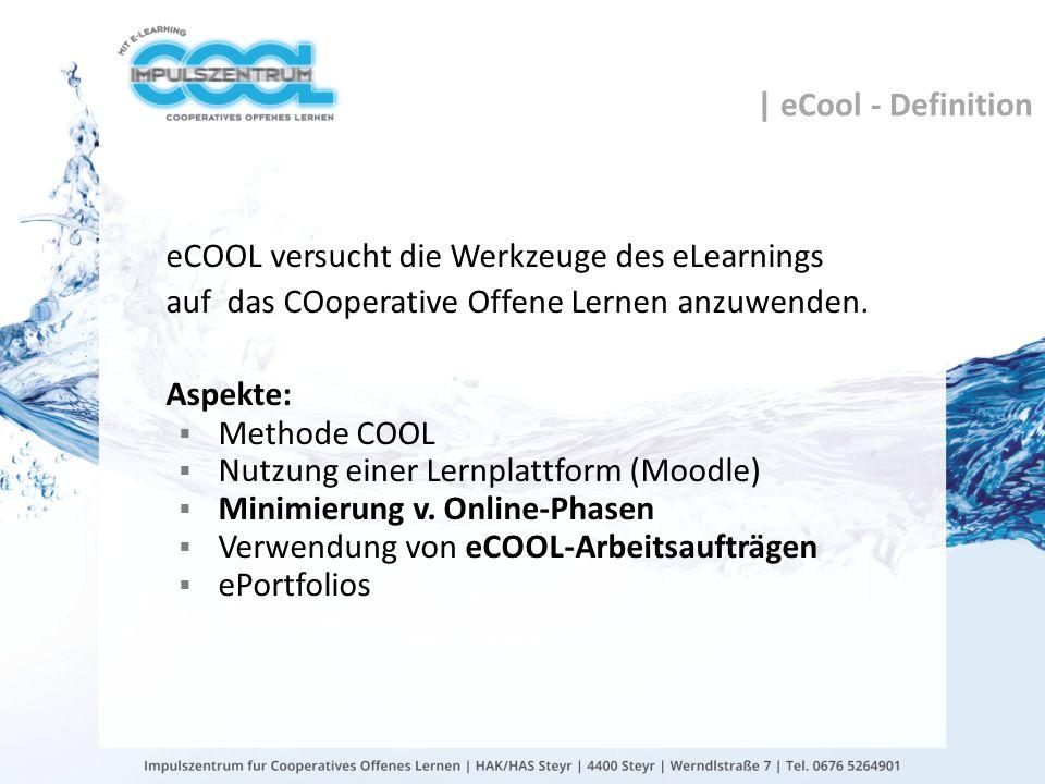 eCOOL versucht die Werkzeuge des eLearnings