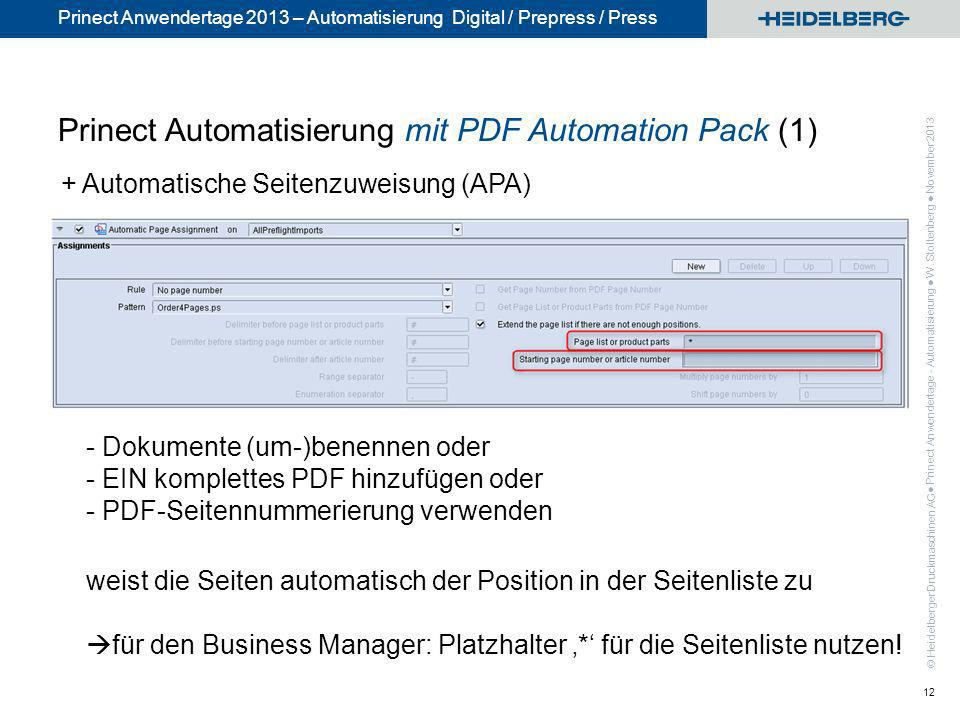Prinect Automatisierung mit PDF Automation Pack (1)