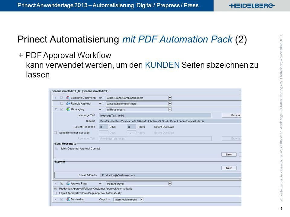 Prinect Automatisierung mit PDF Automation Pack (2)
