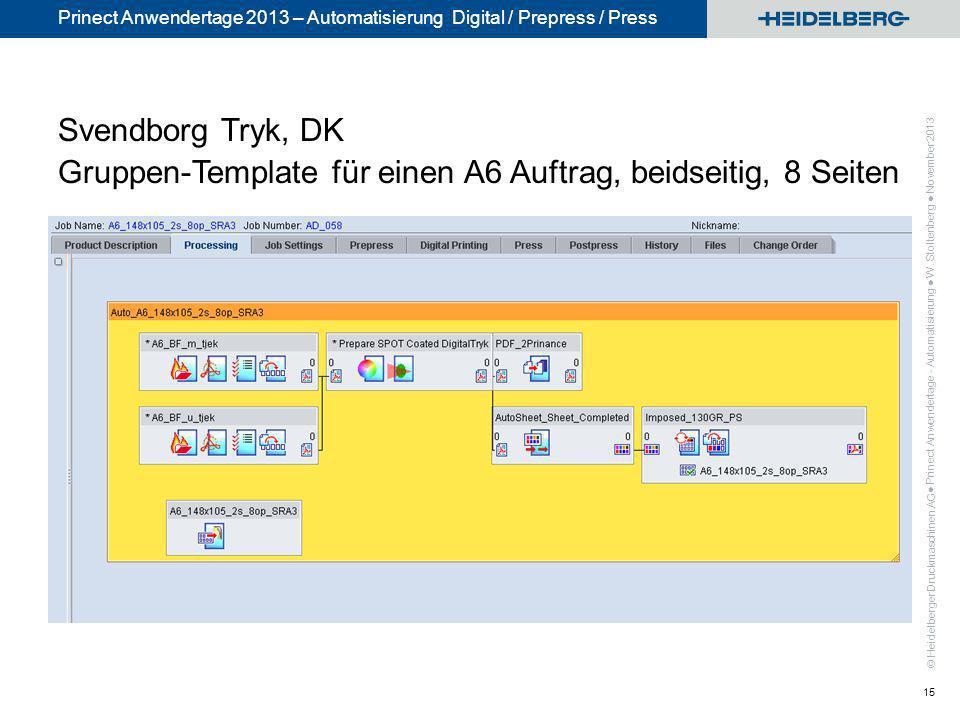 Svendborg Tryk, DK Gruppen-Template für einen A6 Auftrag, beidseitig, 8 Seiten