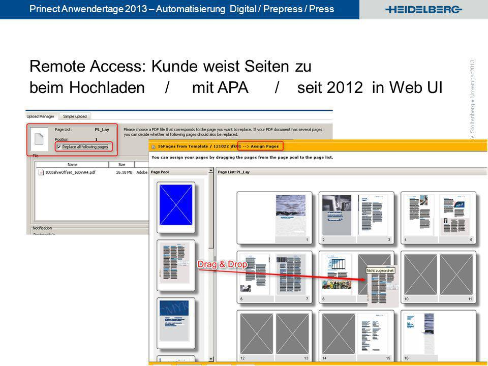 Remote Access: Kunde weist Seiten zu beim Hochladen / mit APA / seit 2012 in Web UI