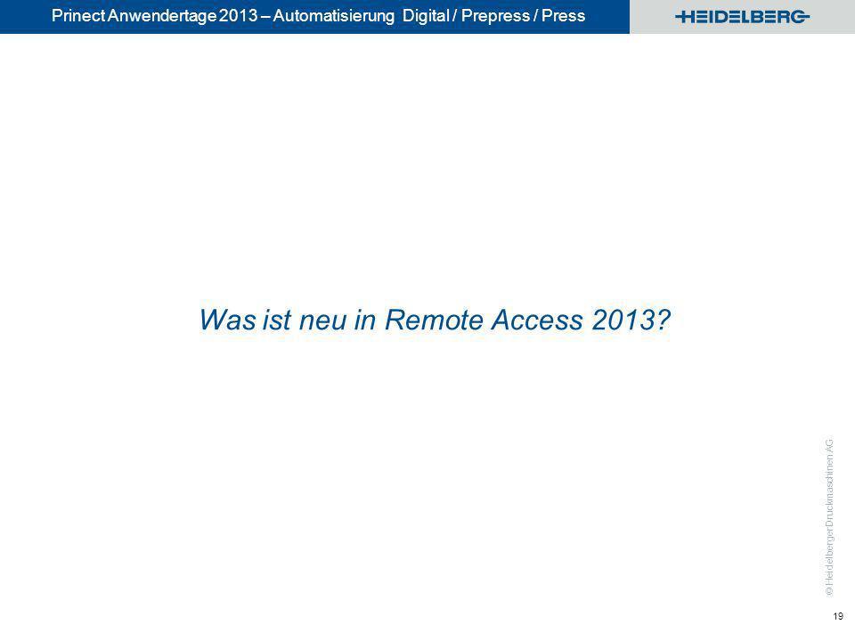 Was ist neu in Remote Access 2013