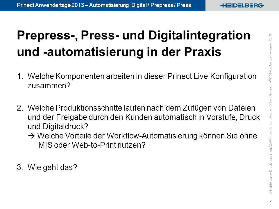 Prepress-, Press- und Digitalintegration und -automatisierung in der Praxis