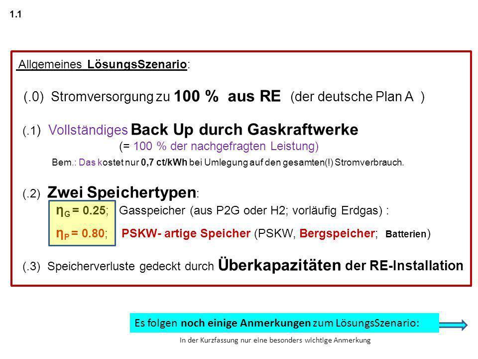 (.0) Stromversorgung zu 100 % aus RE (der deutsche Plan A )