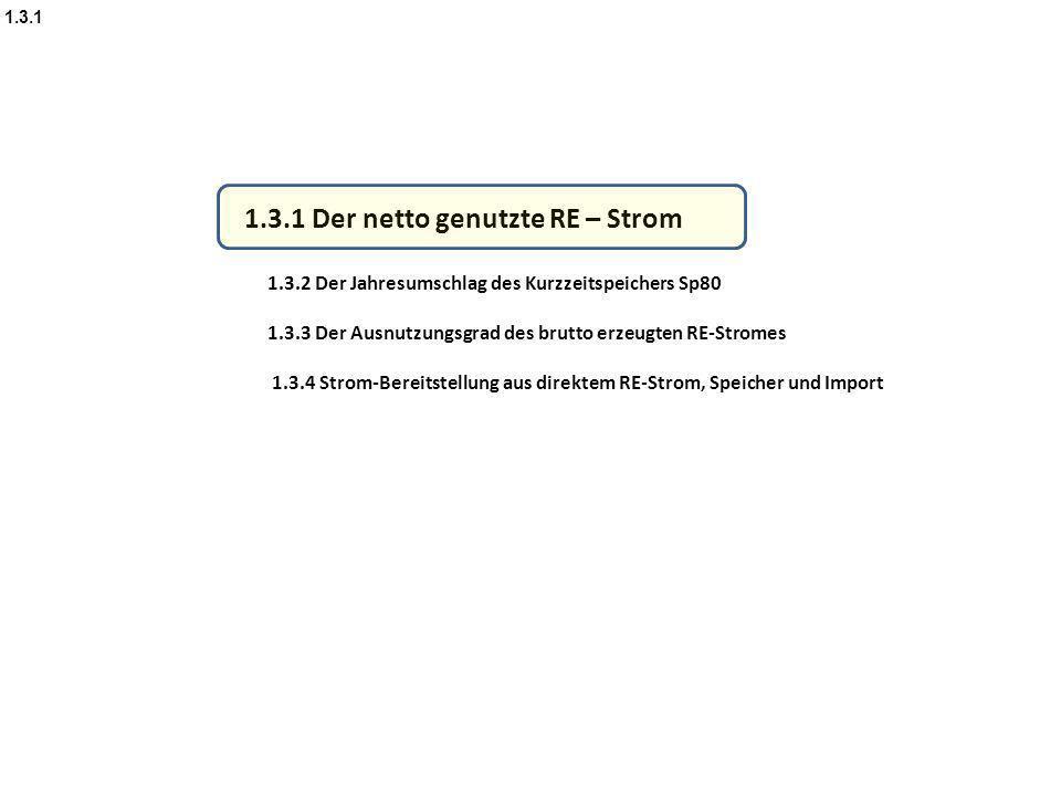1.3.1 Der netto genutzte RE – Strom