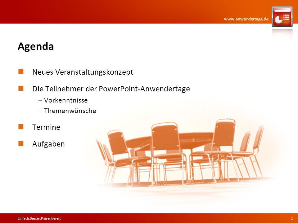 Agenda Neues Veranstaltungskonzept
