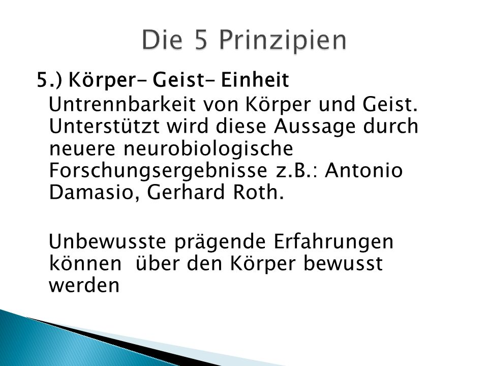 Die 5 Prinzipien