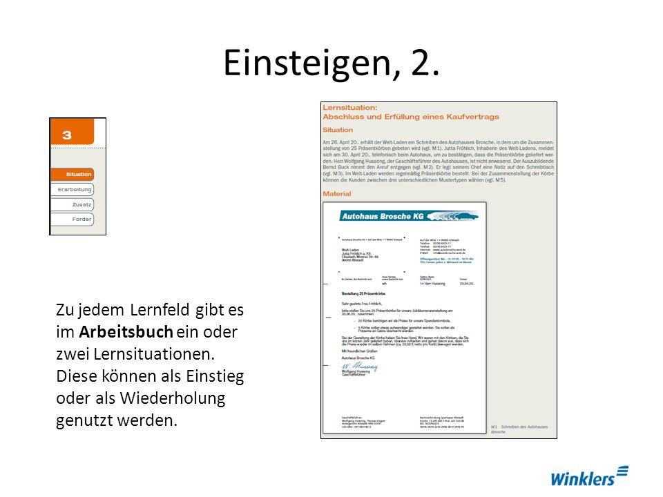 Einsteigen, 2.