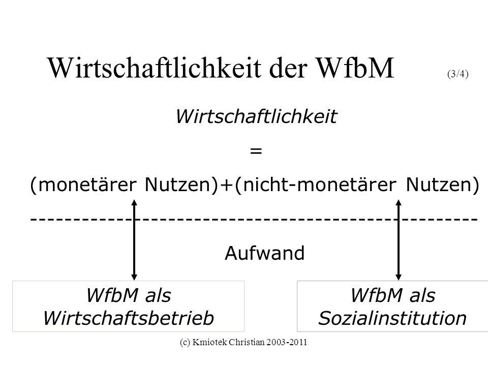 Wirtschaftlichkeit der WfbM (3/4)