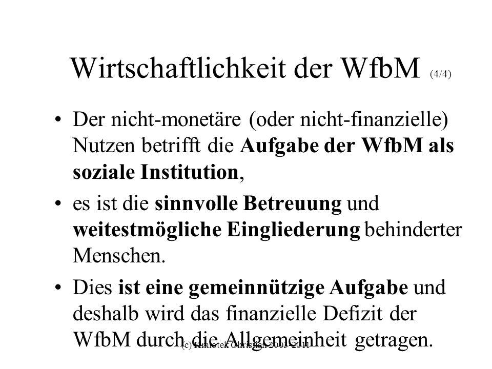 Wirtschaftlichkeit der WfbM (4/4)