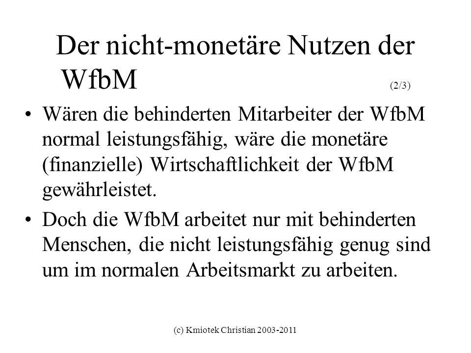 Der nicht-monetäre Nutzen der WfbM (2/3)