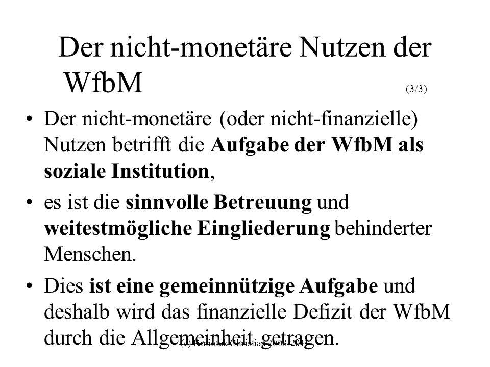 Der nicht-monetäre Nutzen der WfbM (3/3)