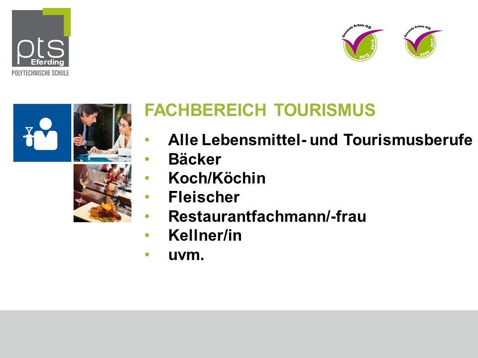 FACHBEREICH TOURISMUS