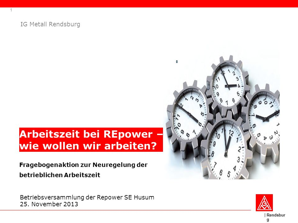 Arbeitszeit bei REpower – wie wollen wir arbeiten