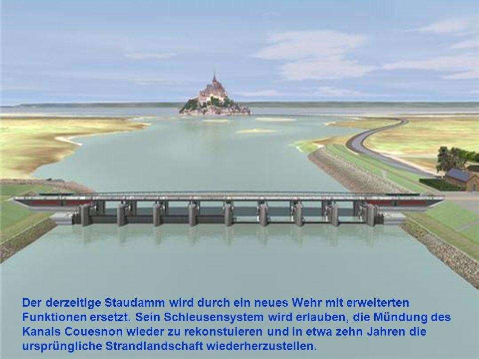 Der derzeitige Staudamm wird durch ein neues Wehr mit erweiterten Funktionen ersetzt.