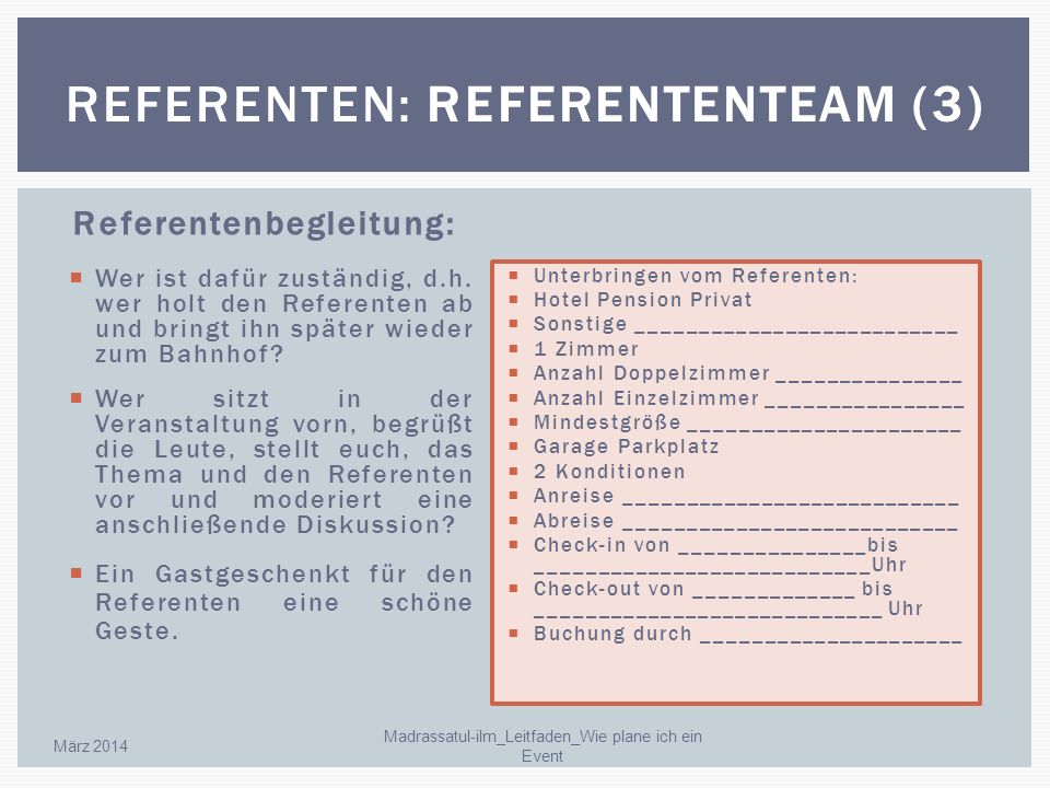 Referenten: Referententeam (3)