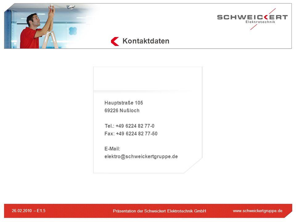 Kontaktdaten Hauptstraße 105 69226 Nußloch Tel.: +49 6224 82 77-0